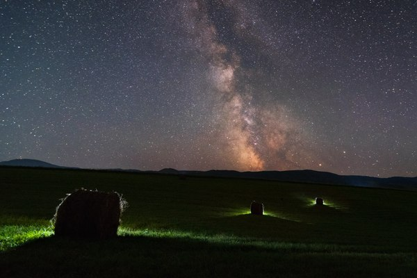 Млечный путь над Белокурихой белокуриха, Россия, Фото, ночная фотография, млечный путь, горы, курорт Белокуриха, алтайский край