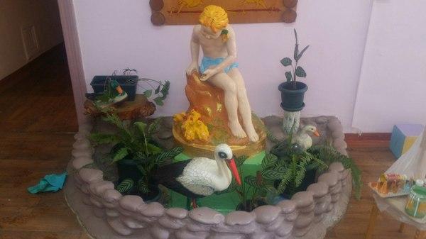 """покраска статуи"" уровень: Новичок. zaxaroid, детский сад, статуя, длиннопост"