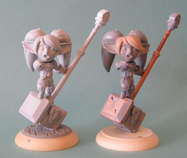 Мастер-модель Поппи + несколько работ на заказ. League of legends, LOL, Poppy, Лепка, Ручная работа, Полимерная глина