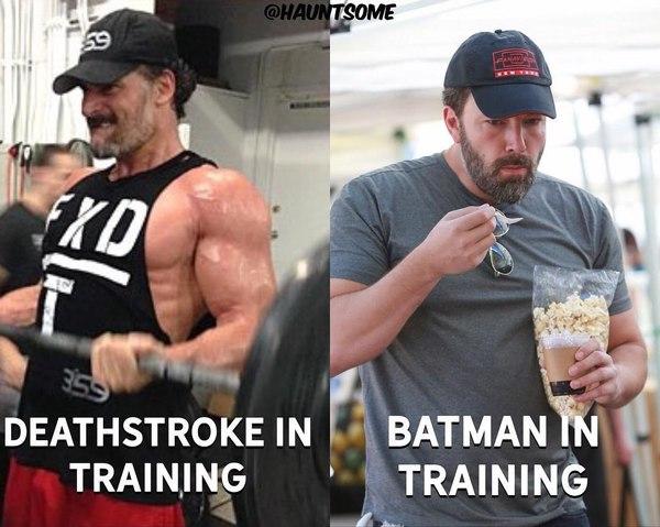 Дефстроук против Бэтмена!