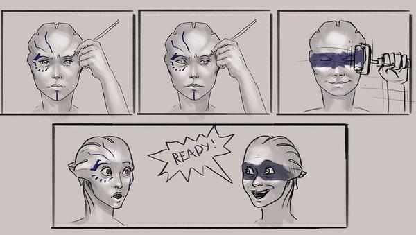 Когда у азари нет времени на макияж
