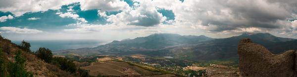 Крым. Долина приведений Панорама, Крым, Горы, Фото