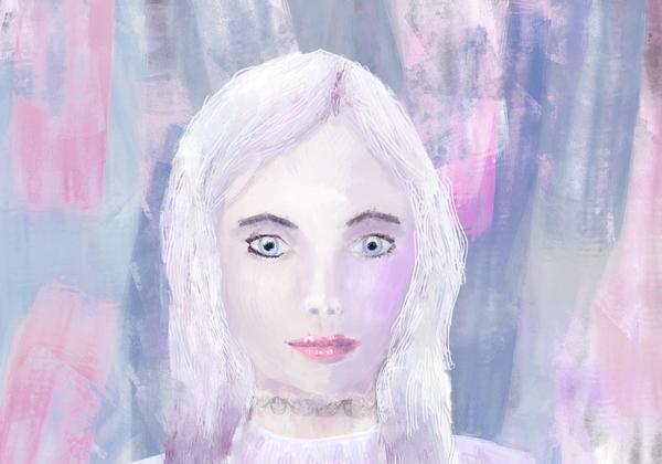 Девушка XtDr, рисунок, девушки, человек, мазня