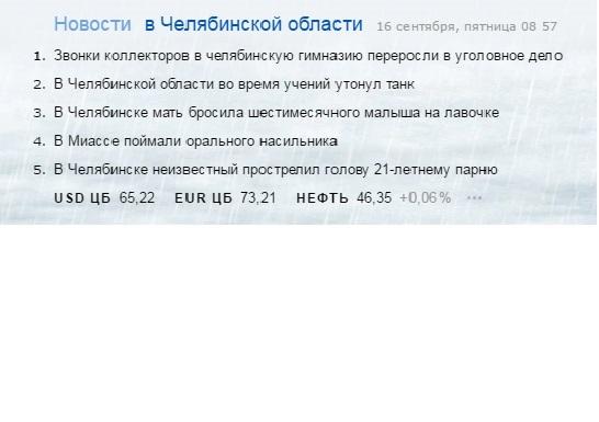 Утро радует новостями... Челябинск, Новости, Доброе утро, Текст