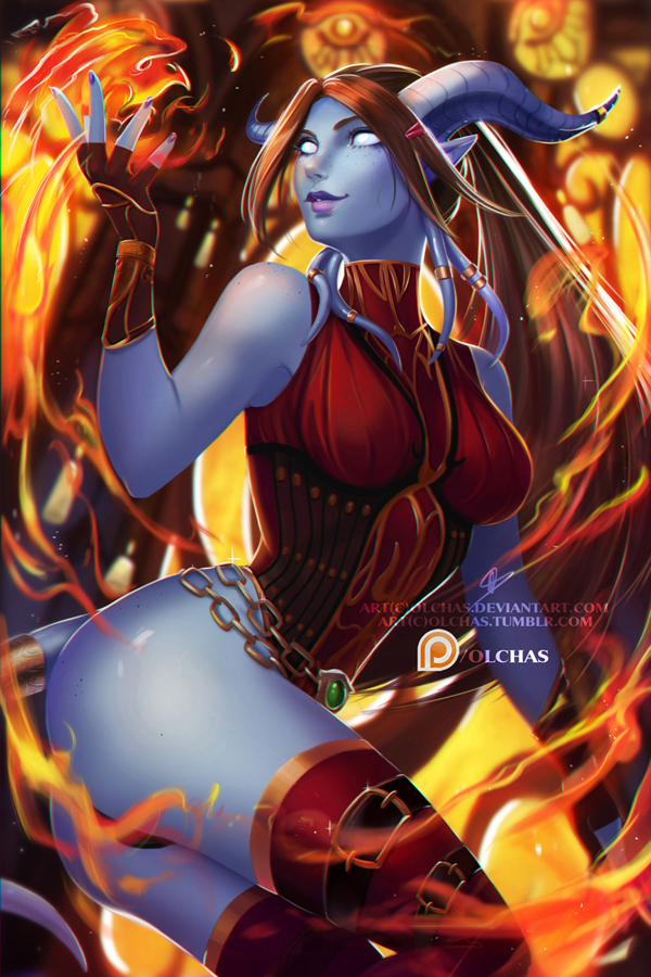 Serrian, The Fire Mage OlchaS, World of Warcraft, Wow, Draenei, Дренеи, Mage, Маг, Магия
