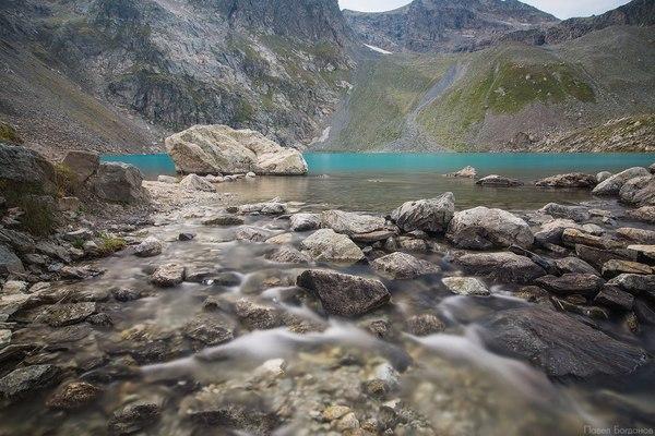 Архыз, озеро на высоте 3000 метров Архыз, Озеро, Россия, Горы, Фото, Длиннопост