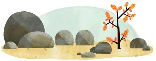Забавный осенний дудл от Google