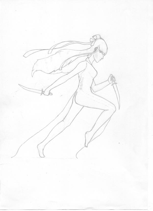 Девушка. Эскиз Девушки, Рисунок, Оружие, Творчество