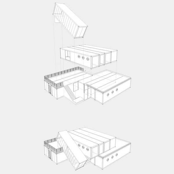Офис из морских контейнеров в Тель-Авиве (Израиль) Израиль, Тель-Авив, World of building, Сооружения, Строительство, Архитектура, Офис, Дизайн, Длиннопост