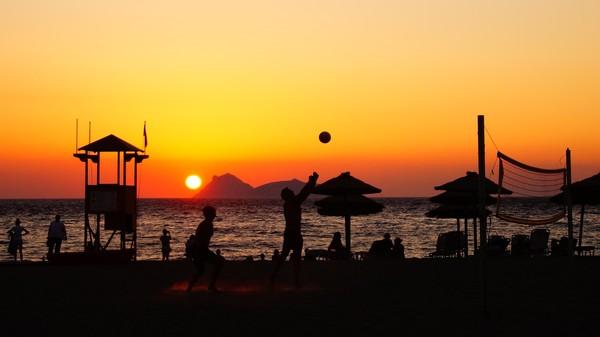 Греция, Крит, Матала моё, крит, волейбол, греция, закат, пятничный тег моё, море, море и закаты