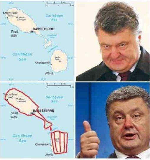 Украина подписала соглашение о безвизовом режиме с островами Сент-Китс и Невис Украина, Порошенко, Сент-Китс и Невис, политика, алкоголь, Ельцин