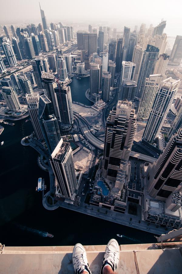 На краю Дубая Руферы, Экстрим, Крыша, Дубай, Фото, Моё