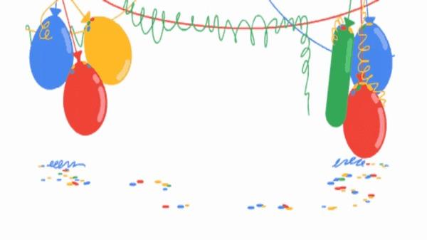 18 лет Google. Google, День рождения, Шарик, Не мое, Гифка
