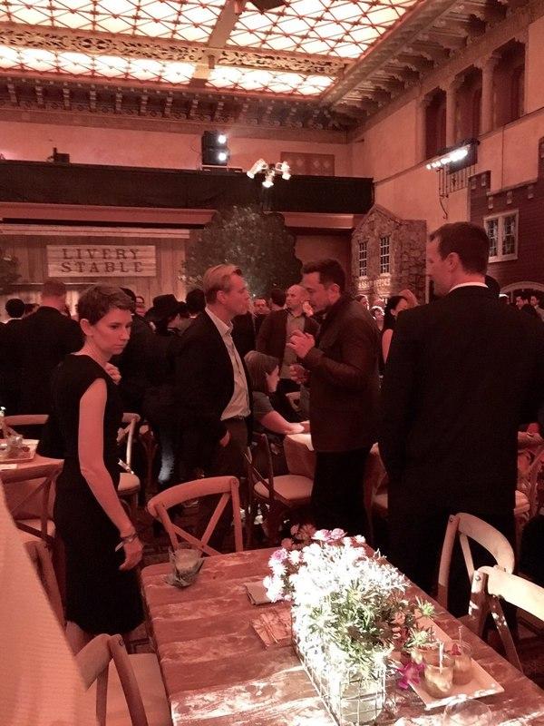 Кристофер Нолан и Илон Маск на премьере сериала Westworld