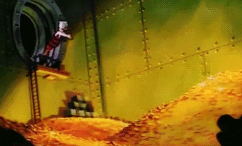 Из лужи - в Скруджи. Часть 3. Скрудж Макдак, Walt Disney Company, Длиннопост, Гифка