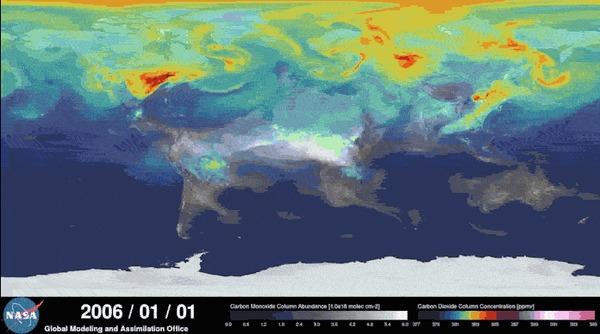 Гифки карты годового содержания CO2 на планете из недавнего поста по теме Co2, Гифка, Углекислый газ, Карты, Суперкомпьютеры, Моделизм, Длиннопост