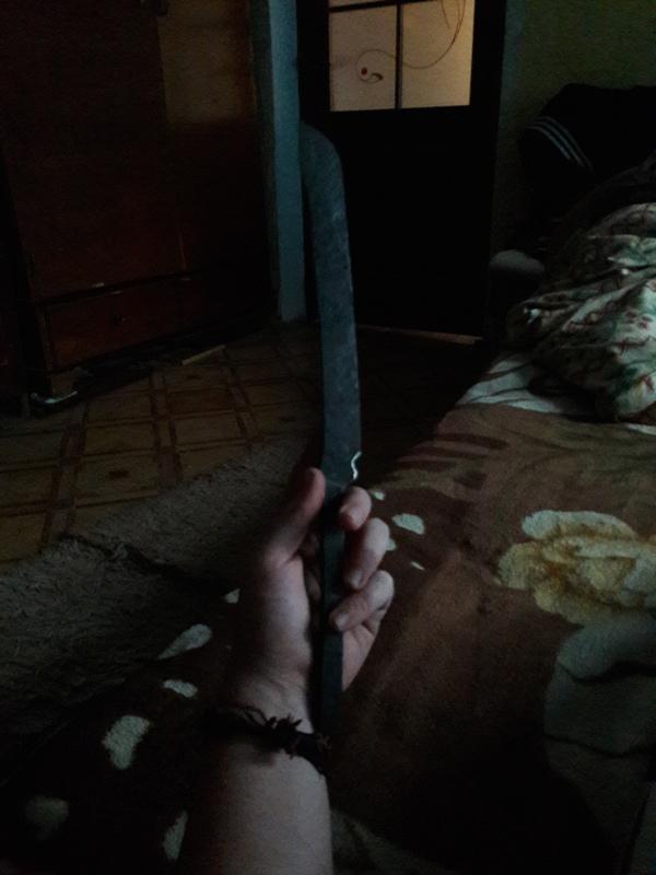 """""""Эльфийский нож, грубой, Орочей работы"""" ковка, нож, наждачка, дерево, сталь, масло, алюминий, больстер, длиннопост"""
