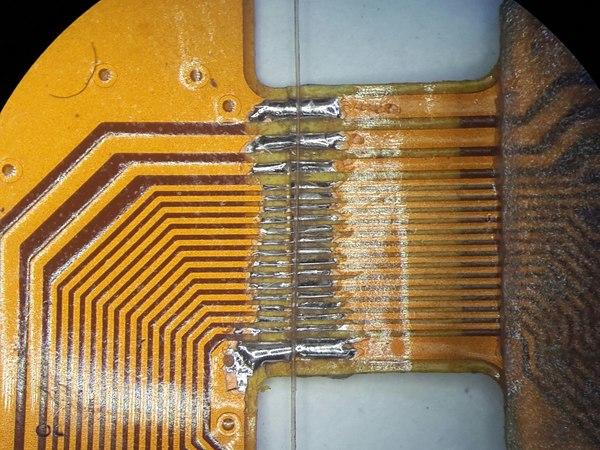 Микропайка. Пайка, Нокия 8800, Дисплей