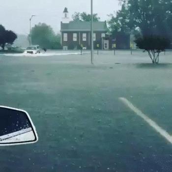 У природы нет плохой погоды Дождь, Потоп, Серфинг, Экстрим, Гифка