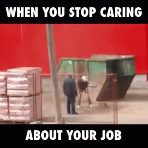 """""""Когда стало наплевать на работу"""" Работа, Наплевать, Рабочие, Гифка"""