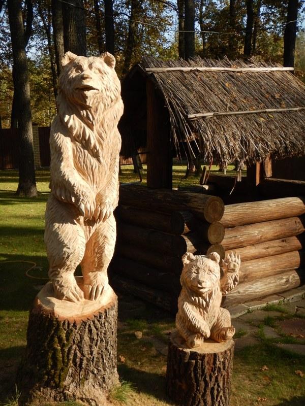 Трах с деревянной статуей