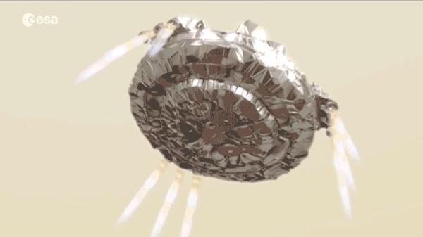 «Экзомарс» совершит историческую посадку на Марсе на следующей неделе Марс, Экзомарс, Посадка, Гифка