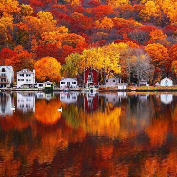 Прибрежная осень Осень, Река, США, Америка, Коннектикут, Красота, Природа, Теги никто не читает