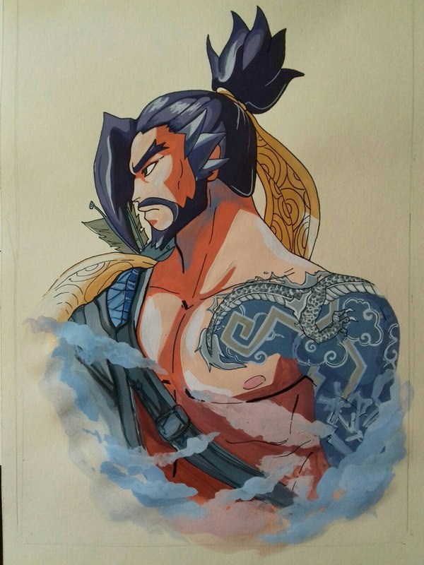 «Да поглотит тебя дракон!» Blizzard, Hanzo, Overwatch, Хандзо, Длиннопост