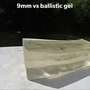 9мм против баллистического геля