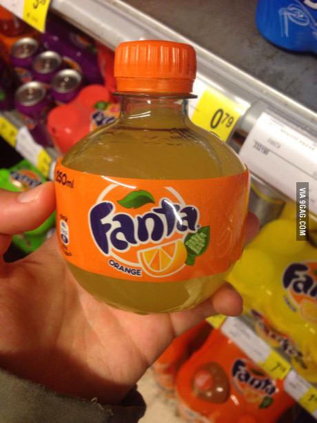"""""""А вы видели такую бутылку Fanta?"""""""