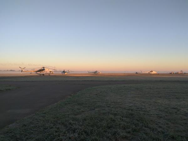Раннее утро на поле Вертолет, Поле, Авиация, Xiaomi redmi note 3 pro, Утро