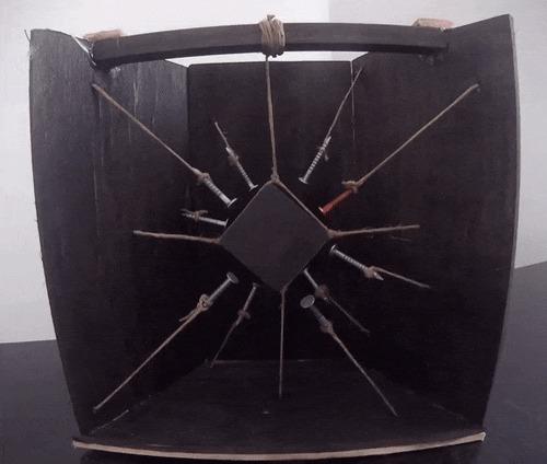 Занятная вещица Коробка, Магнит, Физика, Магнитное поле, Шуруп, Интересное, Гифка, Магнетизм