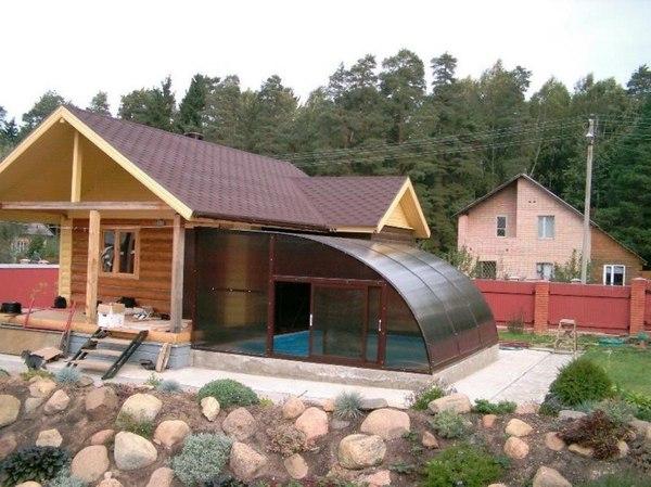 Банька с бассейном
