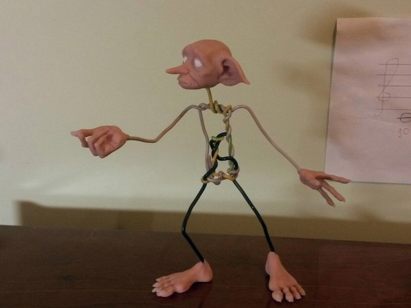 Процесс создания Добби WIP, процесс, Кукла, полимерная глина, Добби, Гарри Поттер, фигурка, моё, длиннопост