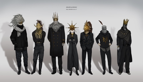 Осенний Фэшен Соулс подъехал. Dark souls, Nameless King, Dragonslayer Armour, Gwyn, Dark Sun Gwyndolin, Ornstein, Sulyvahn, Solaire of Astora, Длиннопост