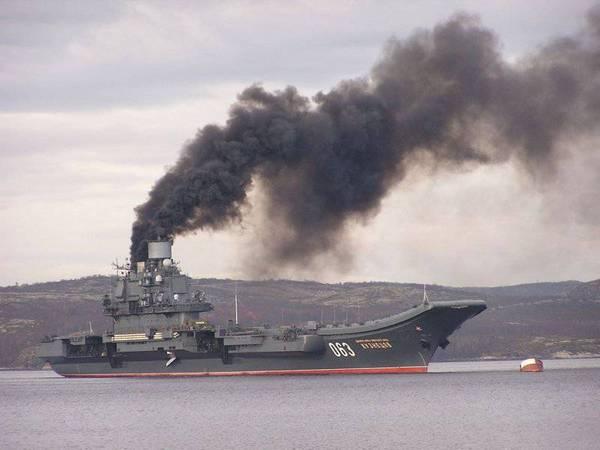 «Адмирал Кузнецов» или немного слов о дыме Текст, Длиннопост, Флот, Корабль