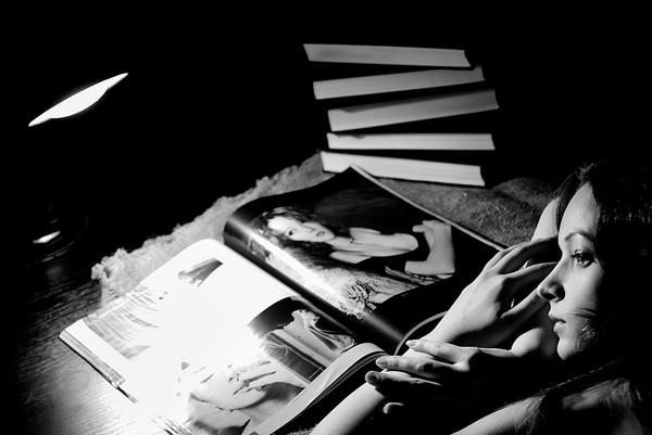 Грусть Девушки, Портрет, Фото, Черно-Белое фото