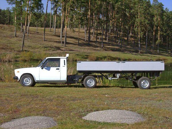 Седельный тягач на базе ВАЗ 2107 АвтоВАЗ, Седельный тягач, Необычные авто, Минифура, Длиннопост, Фото