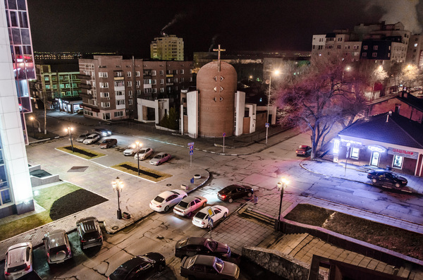 Немного ночного Саратова Саратов, Россия, Город, Деревня, Глушь