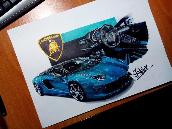 Моя очередная работа Lamborghini Aventador в тюнинге от Mansory