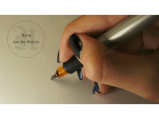 Ежемесячная каллиграфия #11. Ноябрь Nova, Artforrebels, Каллиграфия, Моё, Ноябрь, Parallel Pen, Гифка