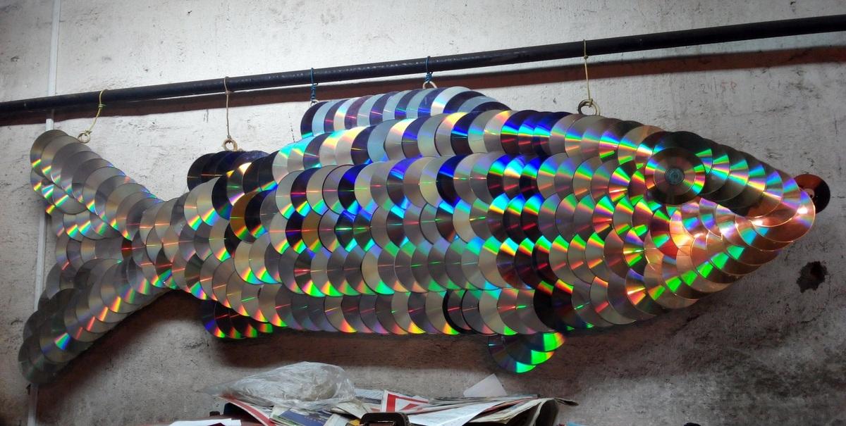 поделка из сд дисков своими руками фото третьей