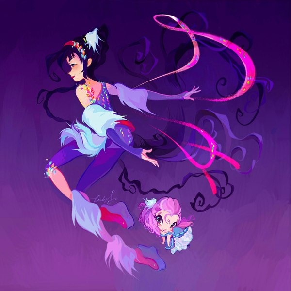Ещё немного снежных фей :3 Anime Art, Винкс, Ladyshalirin, Stella, Musa, Digital