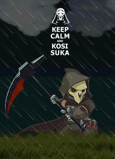 Косарь-жнец Косари, Косарь, Cynicmansion, Overwatch, Гифка, Reaper