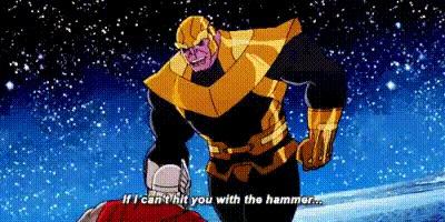 """Будет ли это в фильме """"Война Бесконечности""""? Marvel, Тор, Танос, Гифка, 9GAG, Мультфильмы"""