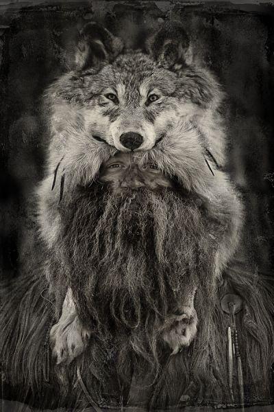 Маунтинмен Горы, Охотник, Волк, Трофей, Охота, Америка, Север, Горец