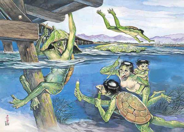 Японская мифология. Водяной- каппа Япония, Мифы, Легенда, История, Водяной, Каппа, Чудовища, Длиннопост