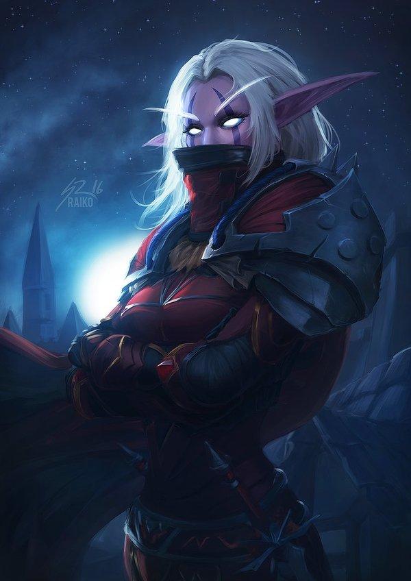 Kaliane Andurome Арт, Игры, Эльфы, Warcraft, Wow, Ночные эльфы, Разбойники