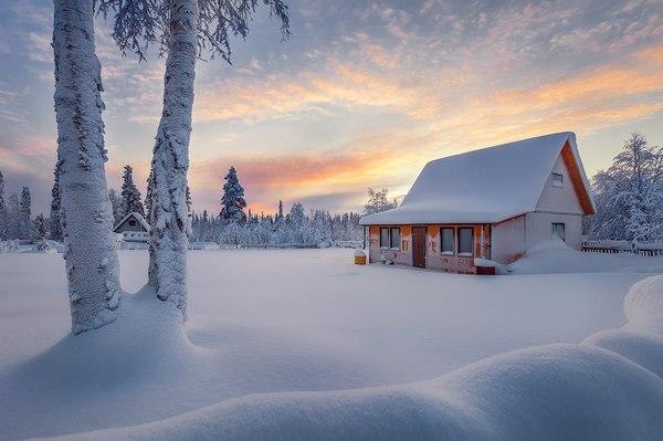 Зима в Мурманской области мурманская область, зима, ноябрь, Россия, Фото, Природа, пейзаж, снег, длиннопост