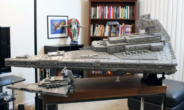 Имперский Звездный Разрушитель из LEGO весом 32 килограмма Star wars, Разрушитель, Lego, Лего звездные войны, Длиннопост